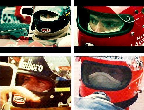 Awesome pic - top is Chris/Daniel and bottom is James Hunt/Niki Lauda...from RUSH