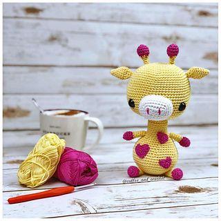 Ravelry: mycrochetprojects' Pink Hearts Giraffe