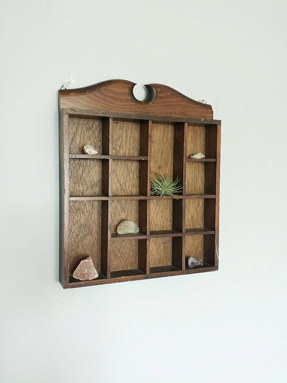 AS IS Wooden Shelving Unit Wooden Shelves by ShopMidCenturyModest