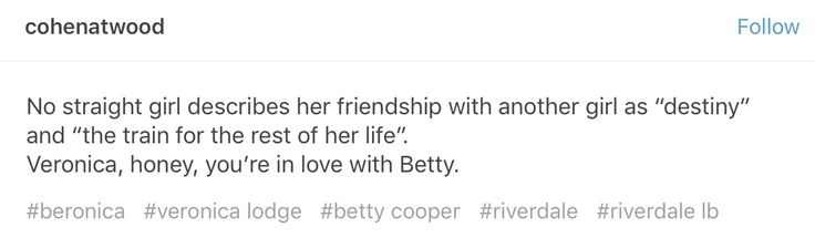 Can't blame her. It's impossible not to fall in love with Betty
