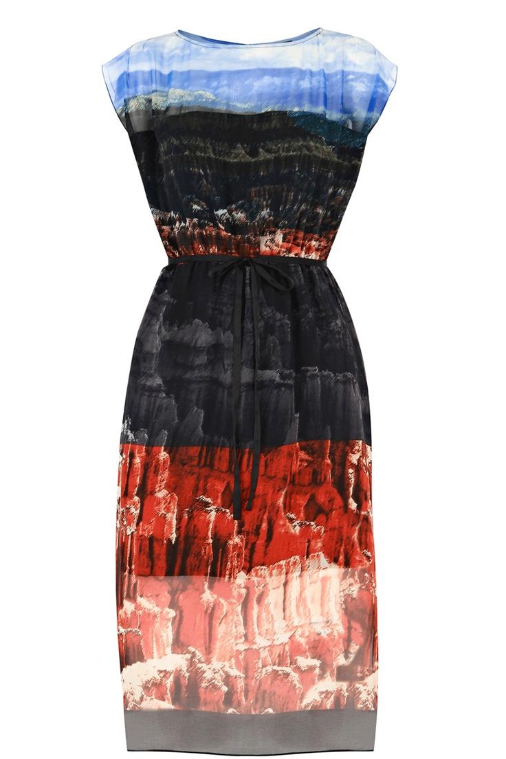 Canyon Print Dress: Fashion, Warehouses, Warehouse Dress, Style, Warehouse Canyon, Dresses, Canyon Print