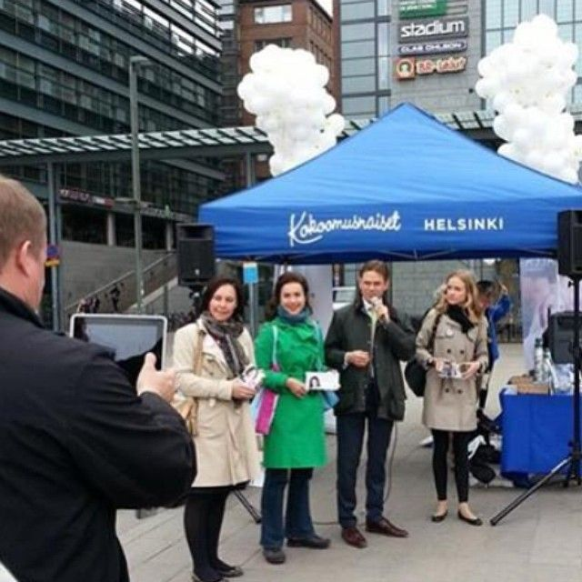 Lisa Sounio-Ahtisaari ja Jyrki Katainen #kokoomus