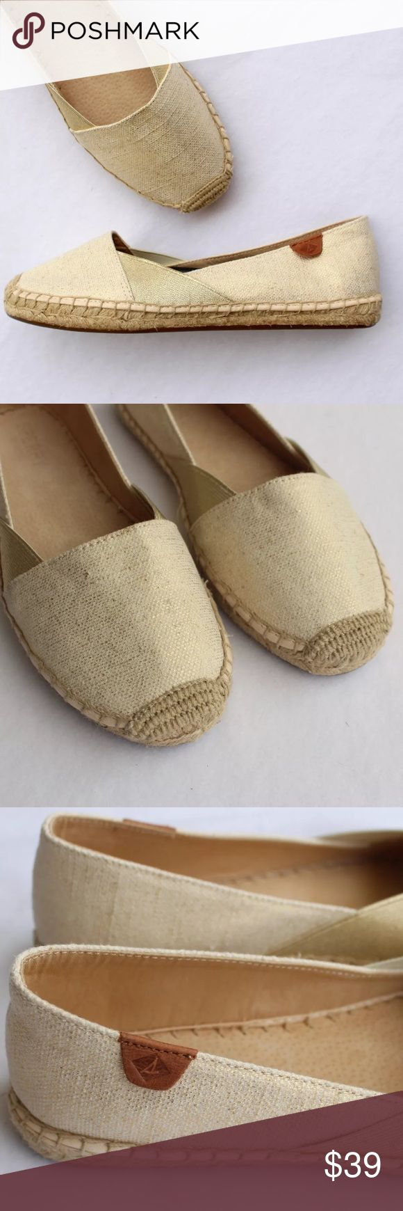 Sperry Top Sider Beige Gold Espadrilles Cape Katan New without box Sperry Top Sider Cape Katana Core Espadrilles Style # STS95780 Beige with gold shimmer Marked size 9M Sperry Top-Sider Shoes Espadrilles