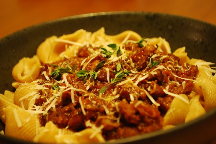 Lamb ragú with pasta // Lamme-ragú med pasta