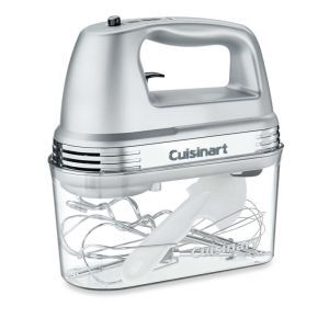 Cuisinart Electric Hand Mixer in Brushed Chrome: The Cuisinart Electric Hand Mixer reiterates the statement that you don't have to sacrifice style for function. This is a 7 speed mixer that offers both a spectacular exterior as well as a plethora of functions. A vibrant LED light does the job of keeping you aware of its current status.