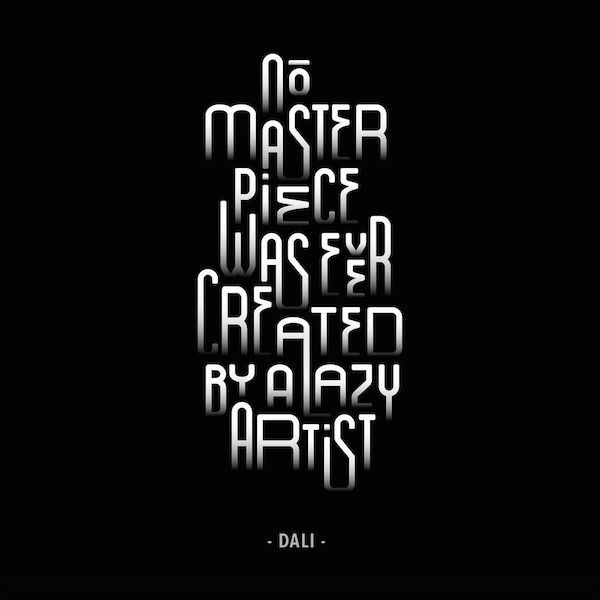Monochromatic Typographic Posters Feature Inspiring Quotes Of Famous Creatives - DesignTAXI.com