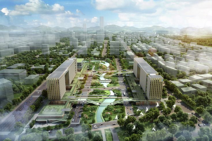 KUAN Architects' Intellectual Property Office Headquarters Design is Inspired by Traditional Chinese Paintings,Courtesy of KUAN Architects