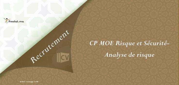 #Prestat #Maroc: Emploi de #CP #MOE #Risque et #Sécurité - #Analyse de #risque en #freelance----->