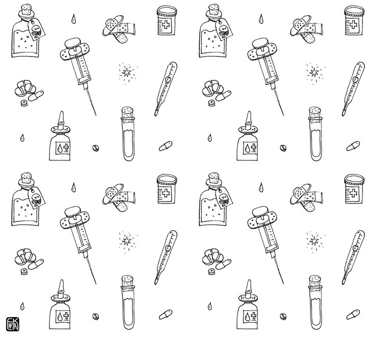 medical doodle pattern