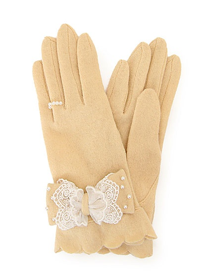 Lace Ribbon Gloves from Liz Lisa