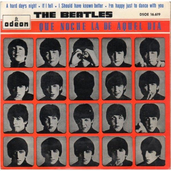 Que noche la de aquel día = A hard day's night [Grabación sonora] / Lennon y McCartney ; The Beatles.-- Barcelona : Gramófono-Odeón, DL 1964 1GS/M/87