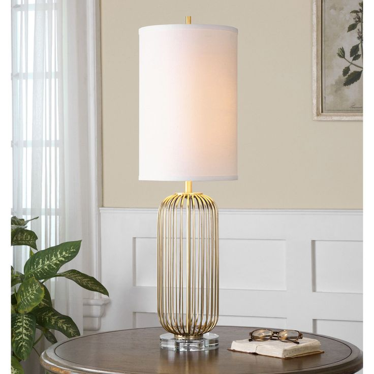 uttermost cesinali gold table lamp table lamps at hayneedle