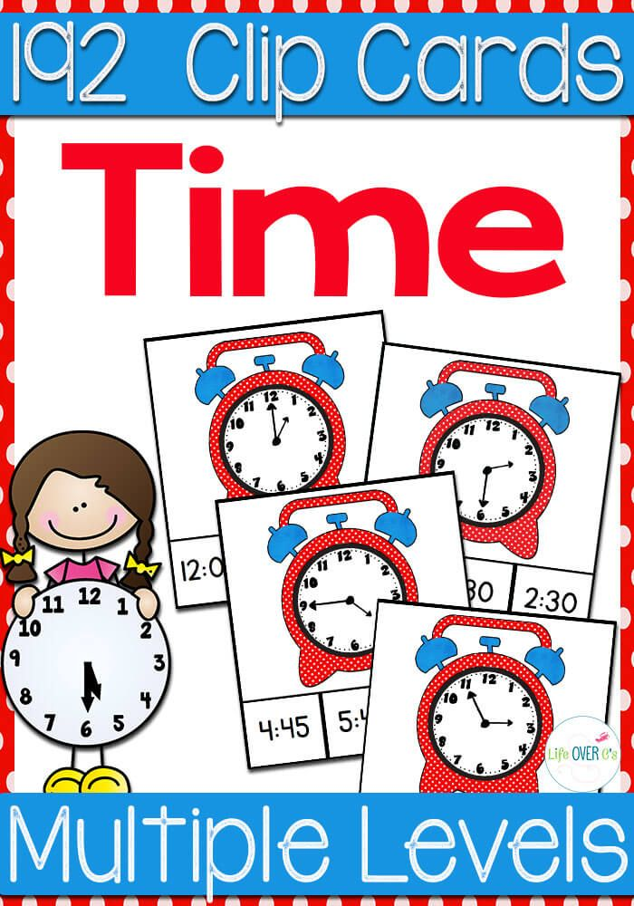 Free telling time games for K-2 - The Measured Mom