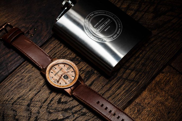 Jim Beam Black Original Grain Limited Edition Watch | Baxtton #Watch #Whisky #Handmade #LimitedEdition #Wood #OriginalGrain