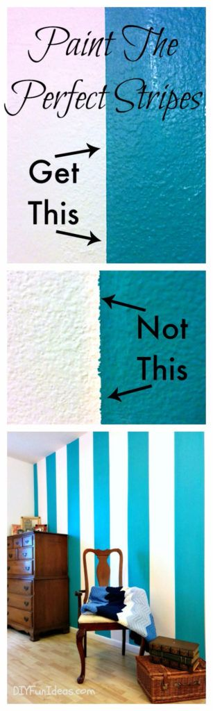 DIY Ideas for Painting Walls - Paint Sharp Lines And Perfect Stripes - Cool Ways To Paint Walls - Techniques, Tips, Stencils, Tutorials, Fun Colors and Creative Designs for Living Room, Bedroom, Kids Room, Bathroom and Kitchen http://diyprojectsforteens.com/cool-ways-to-paint-walls
