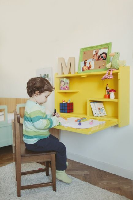 escritorio plegable pared para niños - Google Search