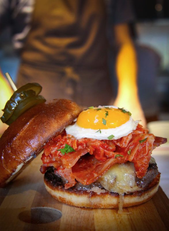 Backyard burger at Backyard restaurant in Forestville, one of the best Sonoma County restaurants dishes of 2017