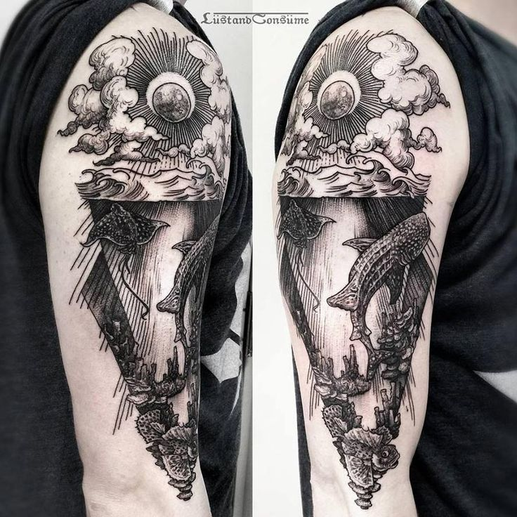 Underwater scene by Phil Tworavens.  http://tattooideas247.com/underwater/