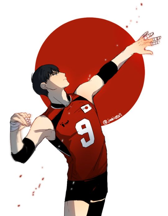 My son Tobio, in a Japan uniform, totally gonna win some international competition.