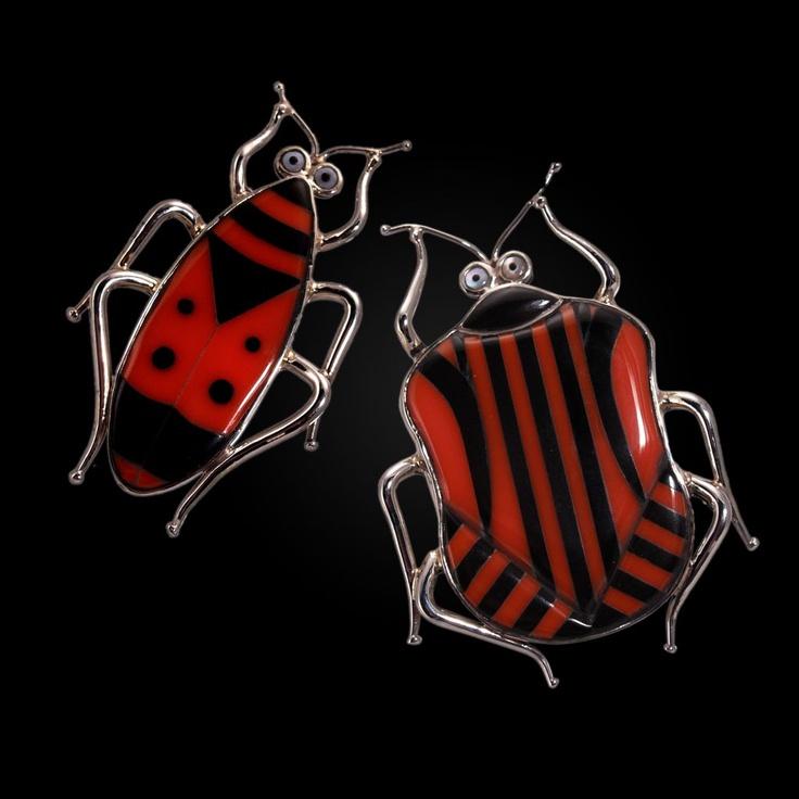 Perez Sanz Bug Brooches: