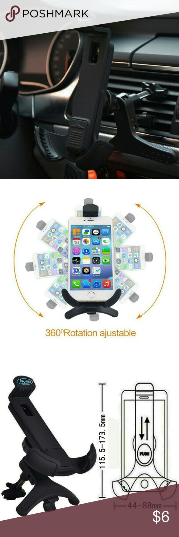 Phone holder car air vent 360 pivot of this cellphone car mount holder allows you