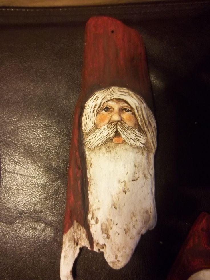 49 Best Painted Santa Driftwood Images On Pinterest