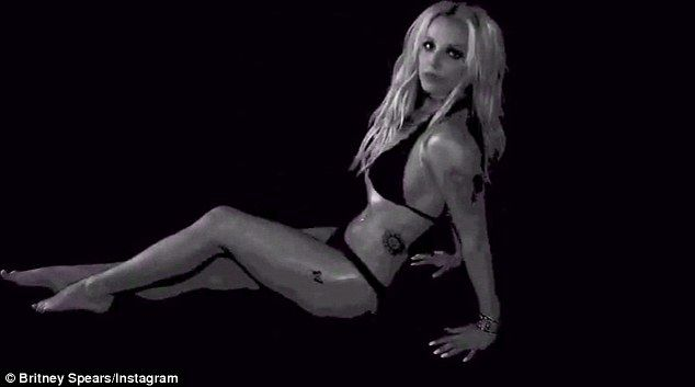 Working it! Britney Spears showed off her fantastic bikini body in a series of videos posted on Instagram on Monday