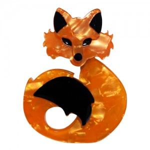 Erstwilder She's So Foxy Brooch available from BarKATtheMeow.com