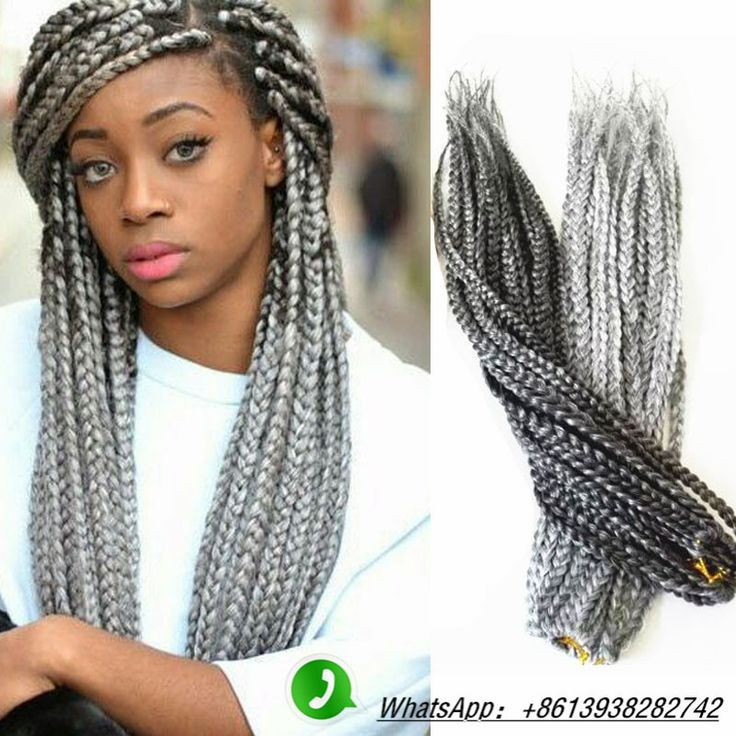 Crochet Box Braids Grey : ... box braids hair on Pinterest Braid hair, Afro twist and Crochet box