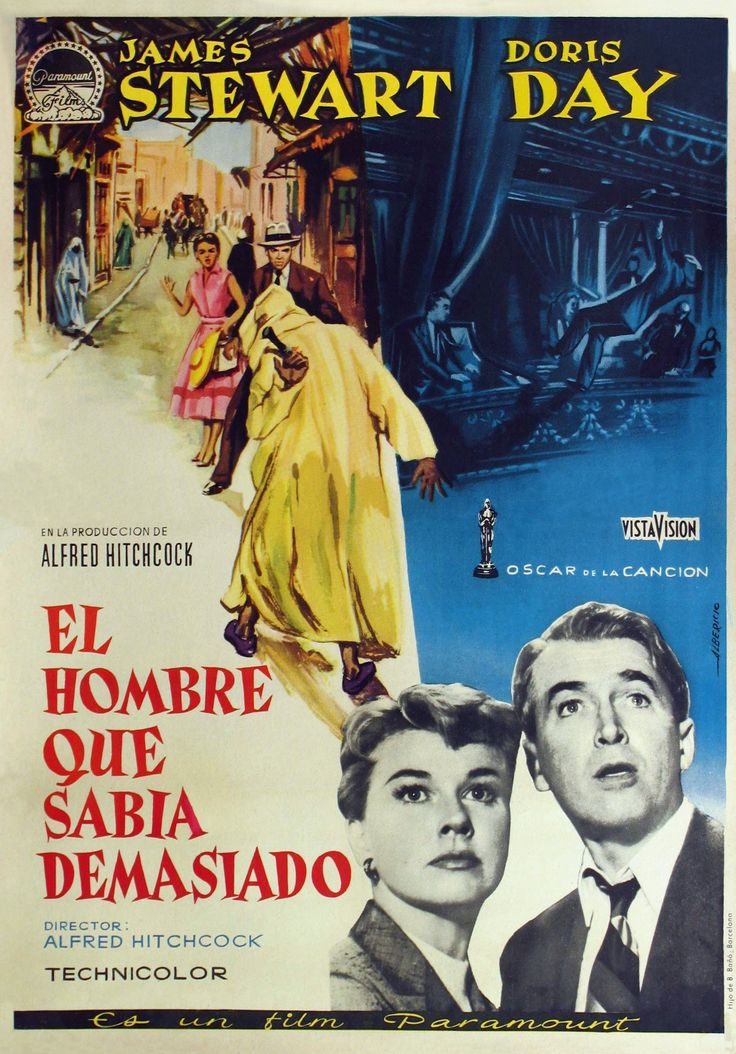 """""""El hombre que sabía demasiado"""", """"The Man Who Knew Too Much"""" (1956). COUNTRY. United States. DIRECTOR: Alfred Hitchcock."""