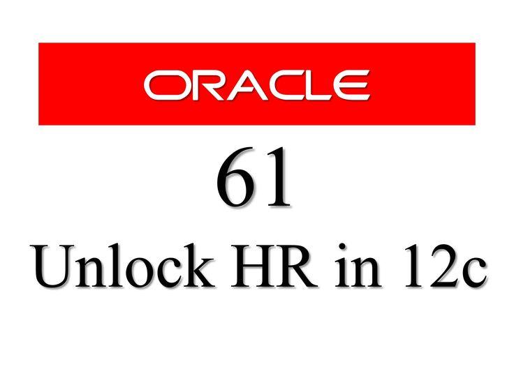 Learn How To Unlock HR User/Schema in Oracle Database 12c. Tags: #oracle12c #RebellionRider #oracle #OracleDatabase #SQL