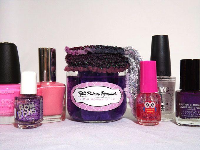 DIY Fingernail Polish Remover Birthday Favors | The Evermine Blog | www.evermine.com