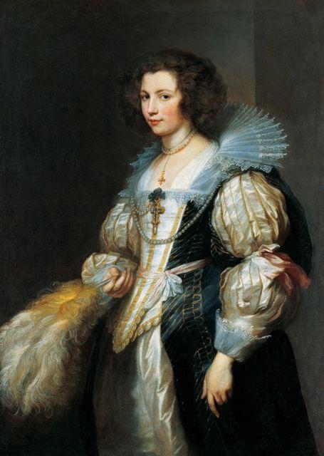 Anthony van Dyck, Maria de Tassis,gemaakt in Antwerpen. Hier zie je een rijke dame uit de zuidelijke Nederlanden, aan dit schilderij valt mij vooral de stof van haar jurk op. De gesuggereerde stofstructuur is zijde en lijkt net echt, alsof het zakt is als je het aanraakt. En deze echtheid van de stof van haar jurk maakt voor mij dit portret zo mooi en bijzonder.