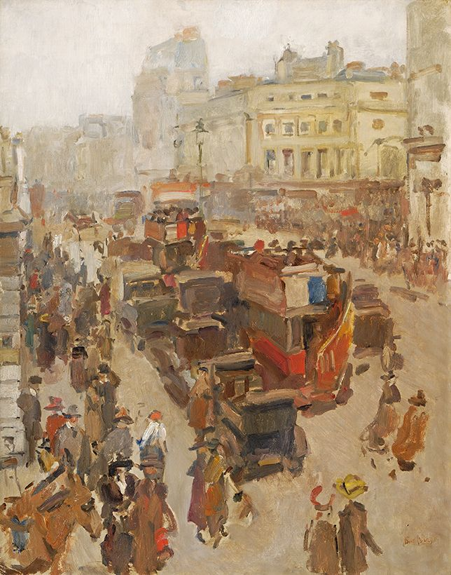 ''Regentstreet, London'''Olieverf op doek Isaac Israels