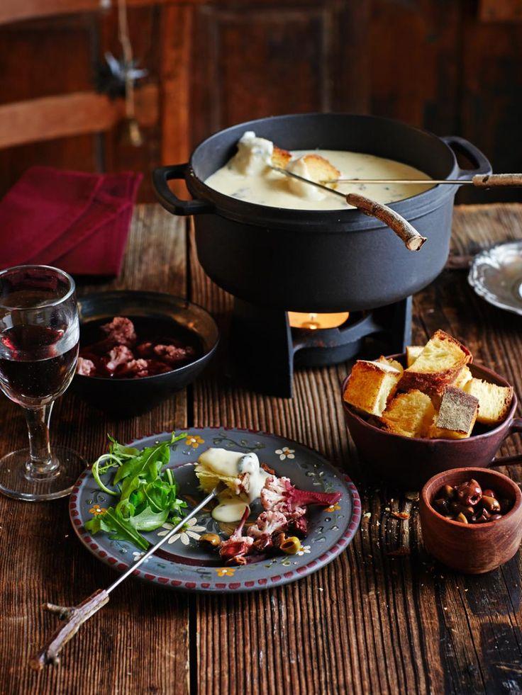 Rezept Trüffel-Käsefondue mit Blumenkohl-Pickles
