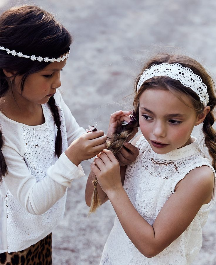 Girl's Daisy Lace Top - Bardot Junior