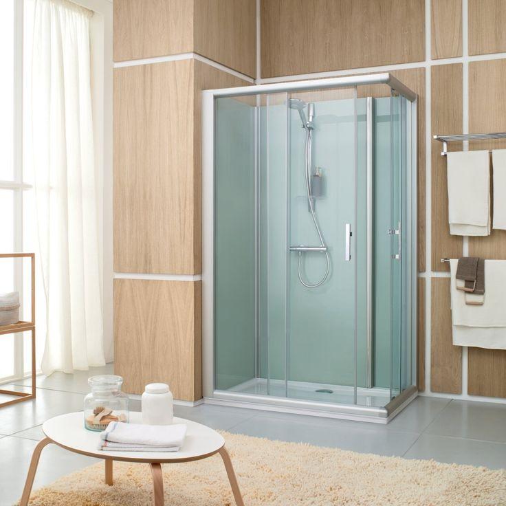 Lapeyre salle de bain cabine de douche salle de bains - Porte coulissante lapeyre verre ...