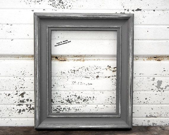 frame grey 8x10 picture frame rustic 2 thick shabby. Black Bedroom Furniture Sets. Home Design Ideas