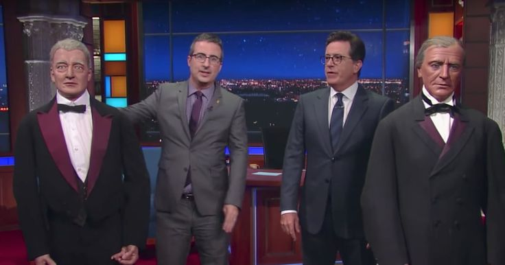 See Stephen Colbert, John Oliver Throw Insults at Wax Presidents http://www.rollingstone.com/tv/news/stephen-colbert-john-oliver-throw-insults-at-wax-presidents-w492517?utm_campaign=crowdfire&utm_content=crowdfire&utm_medium=social&utm_source=pinterest