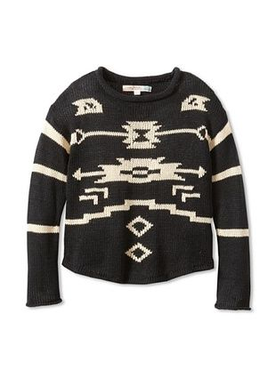 69% OFF Vintage Havana Girl's Tribal Sweater (Black)