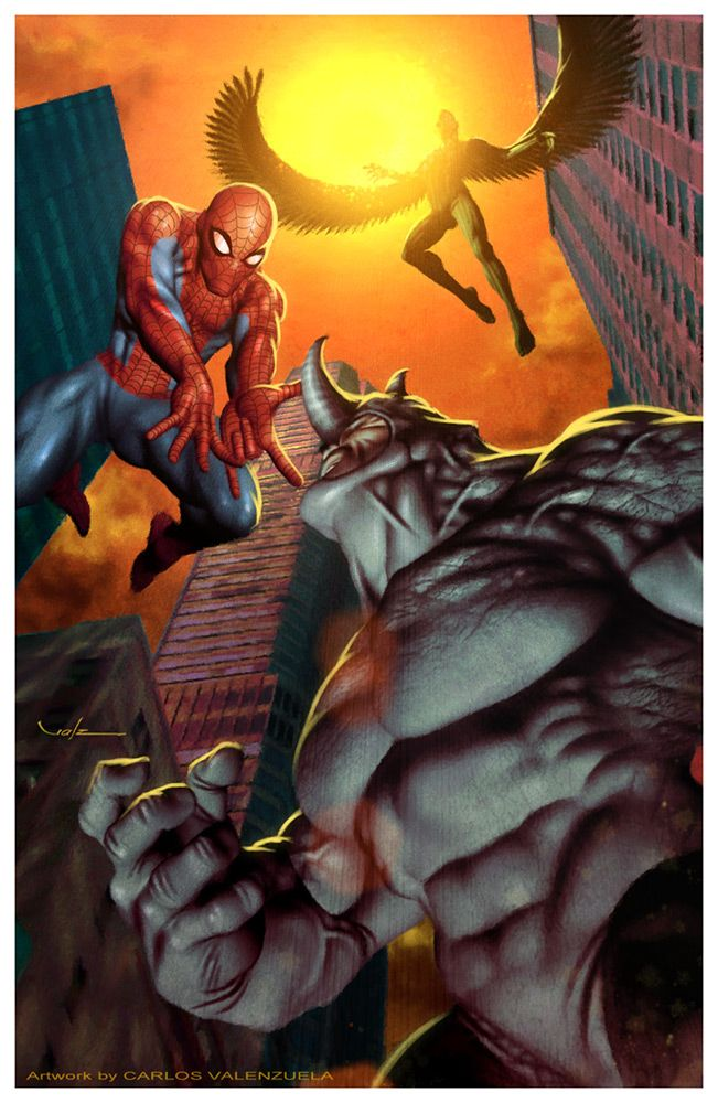 black spiderman vs rhino - photo #33