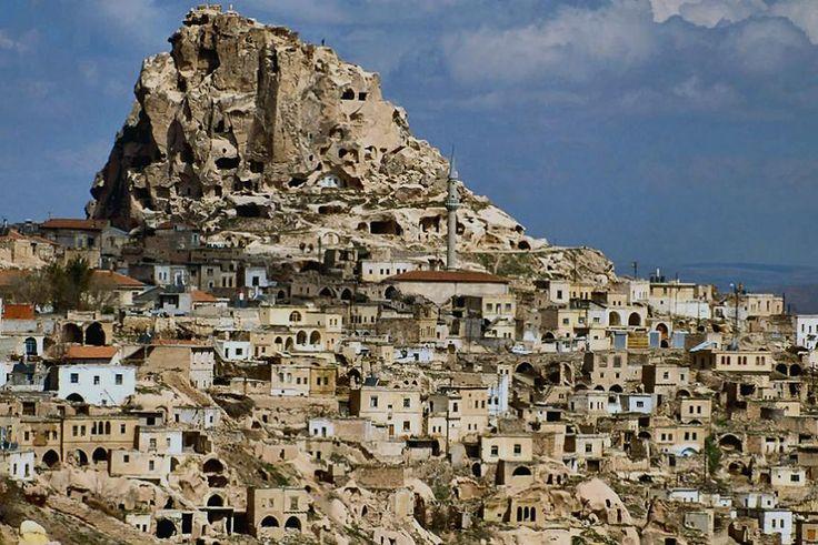 Cappadocia, Turkey: Village climbing one of Cappadocia's characteristic mountains.