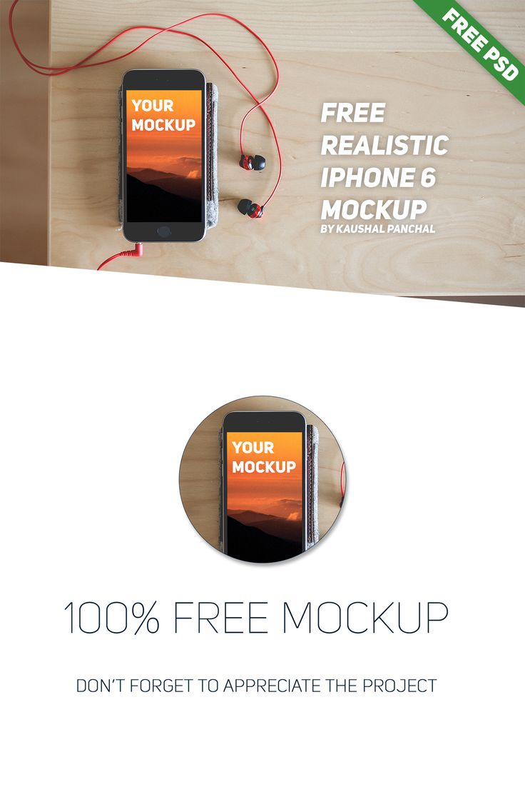 Free Realistic iPhone 6 Mockup on Behance