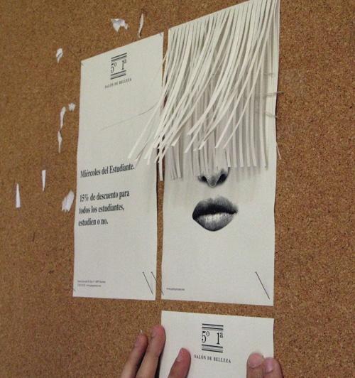Combable Hair Salon Ad, by Bendita Gloria benditagloria.com #combable #ad