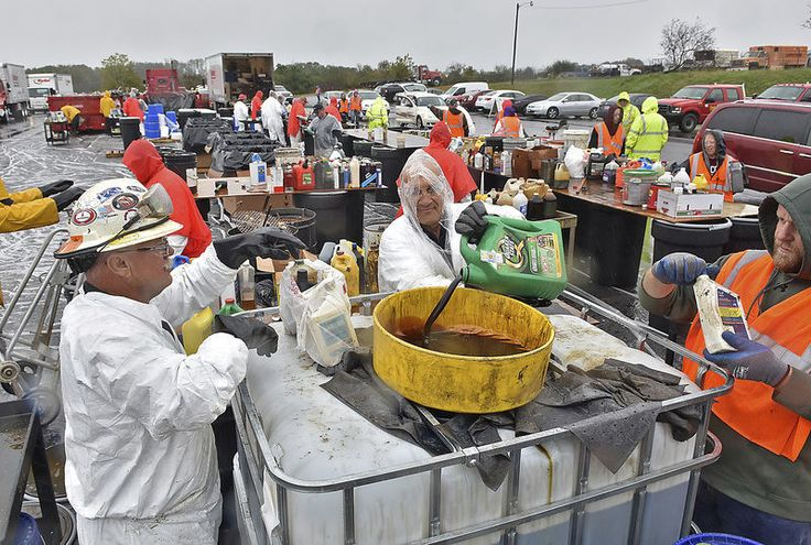 Odds and ends of hazardous materials found their way to the Beckley-Raleigh County Convention Center on Saturday as part of the Beckley Area Foundation's household hazardous waste collection.