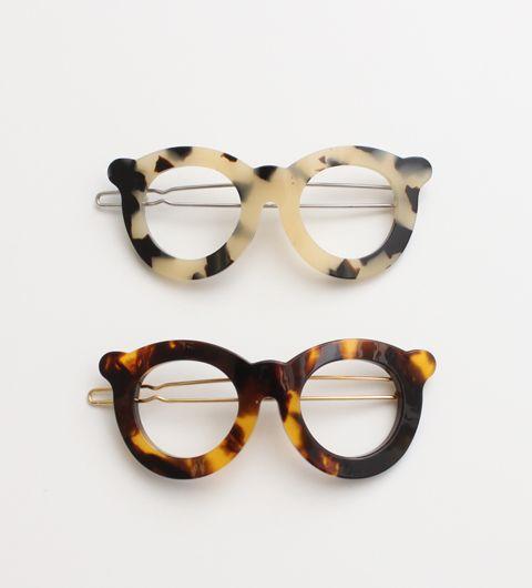 Glasses hair clips.