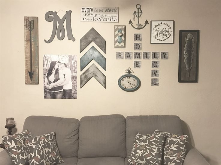Metal scrabble wall tiles are a unique way to decorate your wall. Spell out family names, fur baby names, and fun phrases!