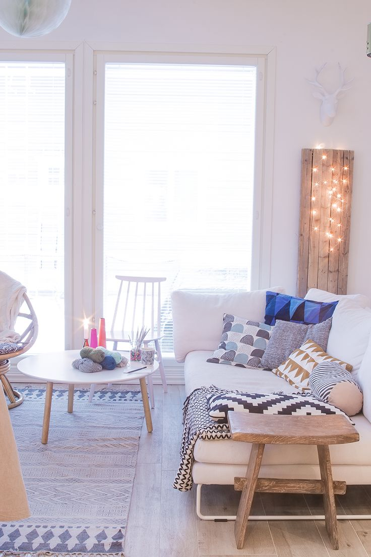 Salon ambiance scandinave | Scandinavian style living room | No home without you