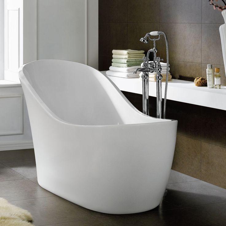 Freestanding Slipper Bath Modern Bathroom Acrylic White Bathtub In Home Furniture Diy Bath Baths