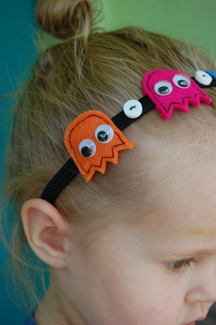 Pacman Ghost Headband. $15.00 USD, via Etsy.